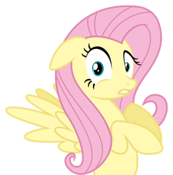 Fluttershy 'What?' by Leo-17-0-2