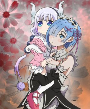 Rem and Kanna. by boy-wolf