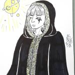Inktober Day 8 - The Space Priest  by Ginkage