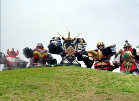 Five Super Sentai World Mega-Mechas! by ryanthescooterguy