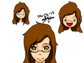 Many faces of me.. in anime/chibi :3 by topazXx11