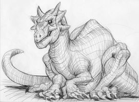 dragon sketch by heckthor
