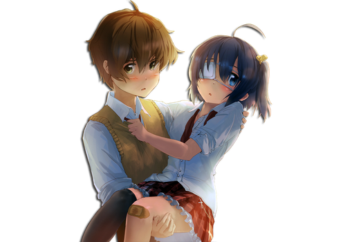 Rikka Takanashi and Togashi Yuuta Render by Hendrix7733