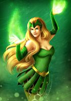 Rainbow of Evil: Green for Enchantress by ryodita