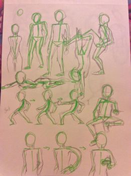 Movement Sketches  by FoolytheCat