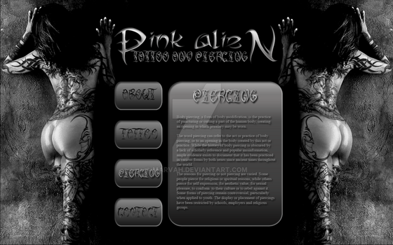 PA tattoo web design by marvah