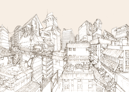 background01 : cityscape by fydbac