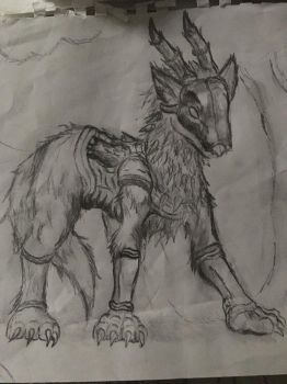The armored wolf  by supersairaptor