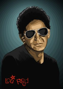 Lou Reed by basquiat79