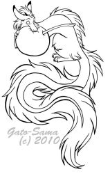 Lineart - Featheragon by Gato-Sama