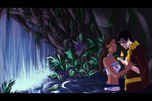 Zutara: Behind the Waterfall by elontirien