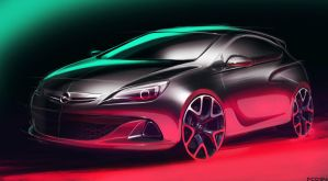 Opel Astra Sketch by FCD94