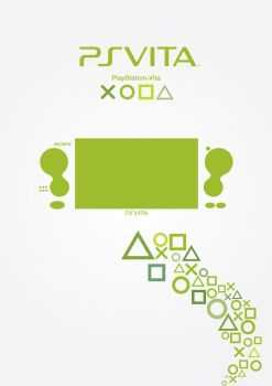 Playstation Vita Poster - Green by patrickzachar