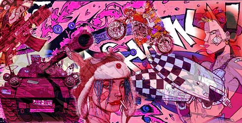 Tank Girl Collage 2 by wlart