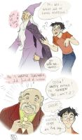 Harry meets Slughorn_HBP color by roby-boh