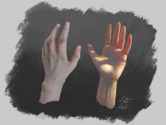 Hand and light study by fakeplasticcats