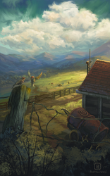 Upon mountainous fields by MalthusWolf