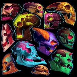 party skullz! by LostKeep