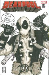Deadpool #1 Sketch Cover by sedani