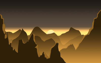 Atmoshphere Mountain range sketch by Lutbarg