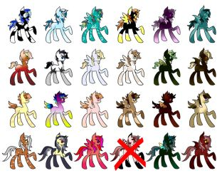 23 Adoptables! Open! by LadyKyou
