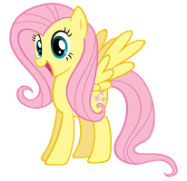 Excited Fluttershy by Stabzor