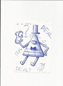 Draw Bill Cipher with the tip of a pen i found #2 by M1ntGr33n
