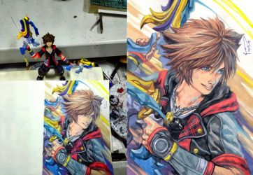 Kingdom Hearts 3 - Sora Painting With Toy by Nick-Ian