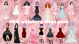 100 WATCHERS MEGA PACK albychuuuu by albychuuuu