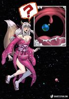 Unaware Catgirl Vores Earth by giantess-fan-comics