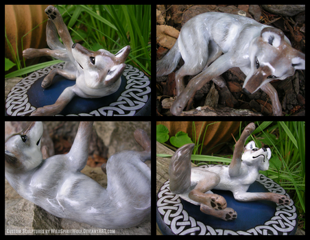 Celtic Wedding Topper Playful Wolf by WildSpiritWolf