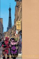 Deadpool in Paris by ReillyBrown