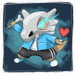 Commission: A Cubone to pick with you by TheAngryAron