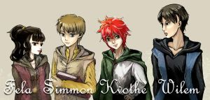 Young Kvothe and friends by nemuri7