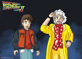 Back to the Future - Ghibli Style by Juggernaut-Art