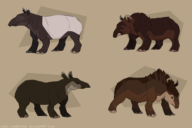 Tapirs of the World by Lord-StarryFace