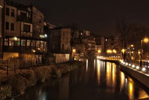 Bydgoszcz Venice at Night by hutuu