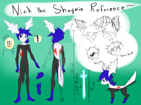 Nick the Shaymin Reference by Seth-Astral