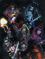 Gene Simmons collage prisma by choffman36