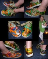 The Lion King Shoes by lacusyamato2008