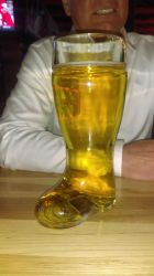 Beer in a boot by Adontaxmaddison