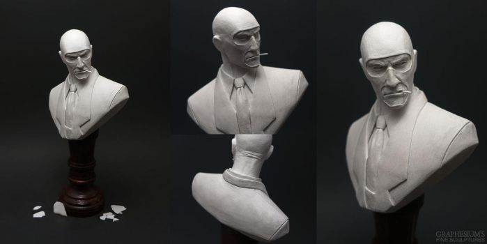 The Spy (Team Fortress 2) Sculpture by Graphesium
