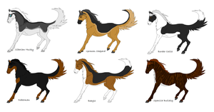 Dog/Horse Hybrid Adopts (CLOSED) by DinoGirl500