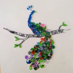 Quilled Peacock by pcanjjaxdcd