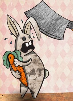 Nooo, not my carrot :'O by xchingx