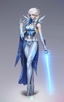 Frozen Elsa Jedi 01 by Zeronis