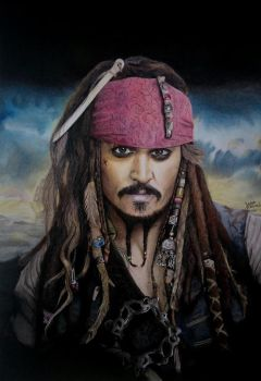 Jack Sparrow Drawing by JakubQaazAdamski
