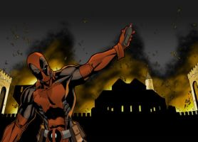 Deadpool Explosion Coloring by Crausse