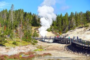 Yellowstone National Park Geyser2 by Trisaw1