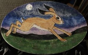 Hare plate by Louvan